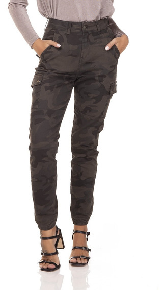 Calça Jeans Denim Zero Mom Fit Camuflada-dz3281