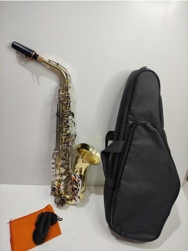 Saxofone Weril Alpha A130 Alto Mib Dourado Original