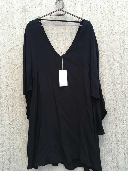 Vestido Negro En Capas Koxis