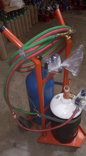 Soldadora Autogena Acetileno 2kg (usado) + Oxigeno 2m3 Nuevo