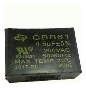 2 X Capacitor 4,5uf +- 5% 250vac Cbb61 Ventilador De Teto
