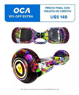 Patineta Electrica Hoverboard Motor Skate 6`5 Bluetooth Luz