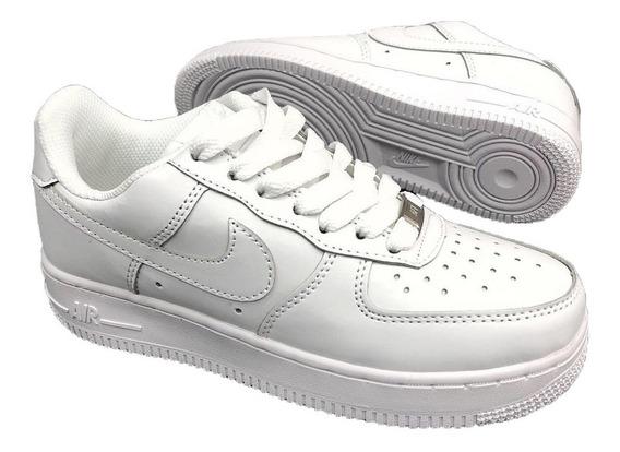 Tenis Nike Air Force One Negra Blanca Mujer Zapatillas Impor