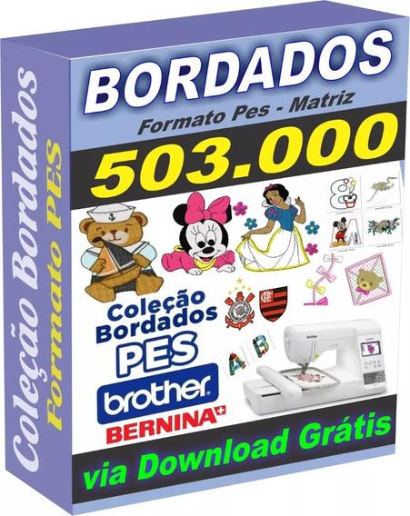 503.000 Matriz De Bordados Só Em Pes Brother + Brindes