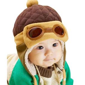 Touca Gorro Aviador Piloto Bebe Infantil Criança Boné Luxo.$