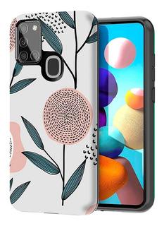 Funda Armor Soft Diseño + Vidrio Full Cover Samsung A21s