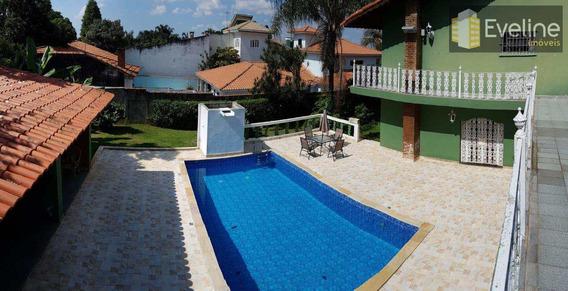 Casa A Venda Poá De 6 Dorms (3 Suítes) Piscina R$ 3.200.000,00 - V485