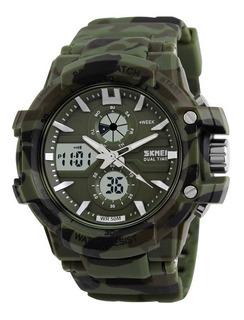 Reloj Skmei 0990 - Sumergible - Cronometro - Dual Camuflado