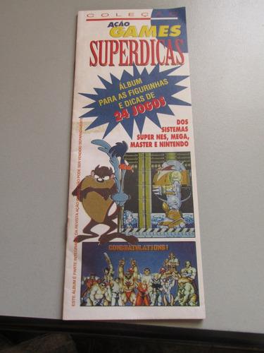 Álbum Ação Games Superdicas