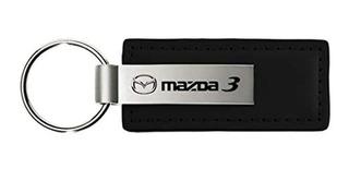Llavero Mazda 3cuero Negro Clave Cadena