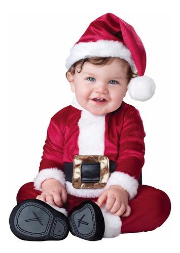 Disfraz Bebé Papa Noel Santa Claus Navidad Bebe 12 A 18meses