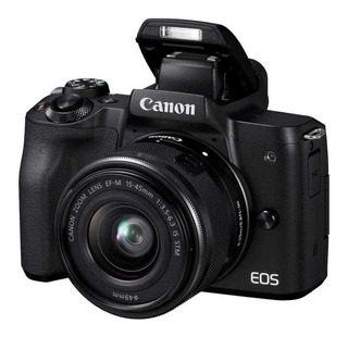 Camara Canon Eos M50 15-45 Resolucion 4k 24 Mpx Ef-m 55-200