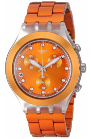 Relógio Swatch Full Blooded Naranja Svck4051ag