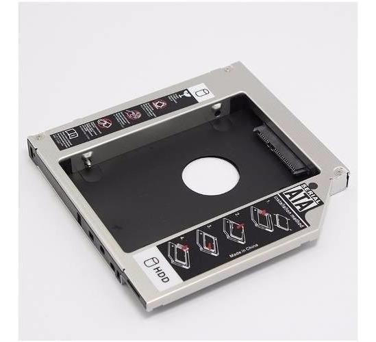 Adaptador Segundo Hd Ssd 2.5 12.7mm Sata Notebook Dvd Caddy