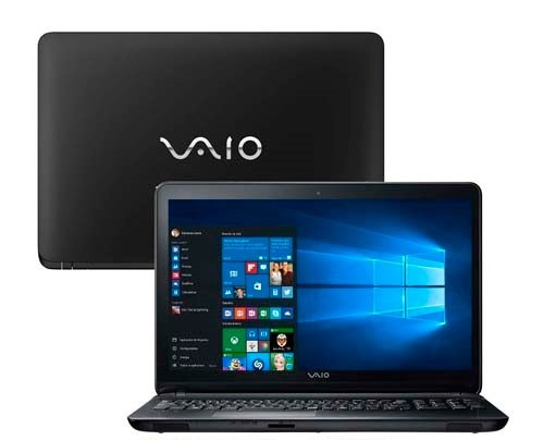 Notebook Vaio Intel Core I3 5005 4gb 1tb 15pol - Novo