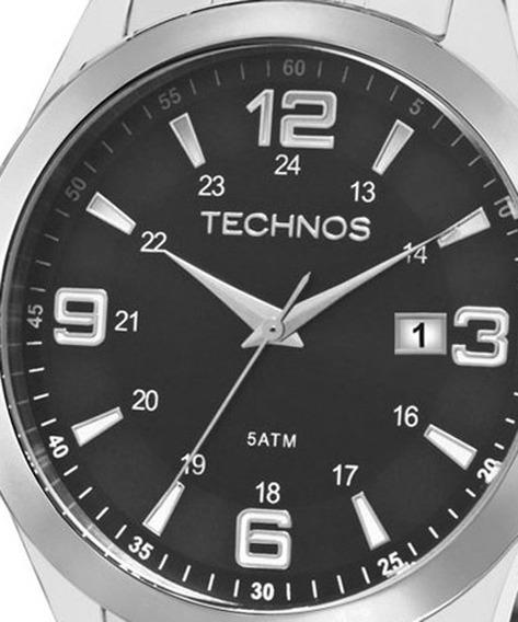 Relógio Technos Masculino Classic Prata Steel 2115mkt/1p