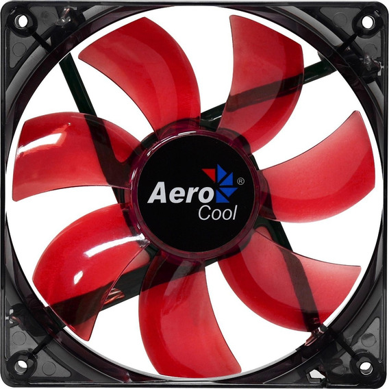Kit 2 Cooler Gamer 120mm 12cm Aerocool En51363 Led Vermelho