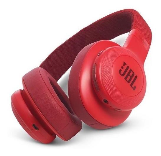 Fone Jbl E 55 Bt Headphone Original Bluetooth Vermelho