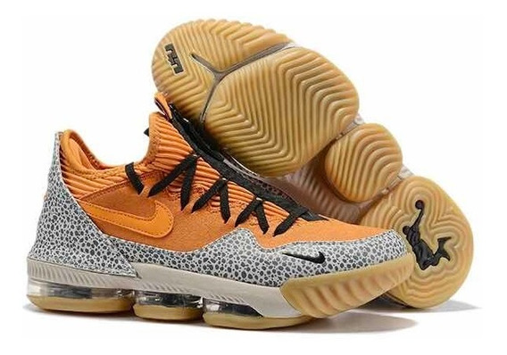 Tênis Nike Lebron 16 Orange Grey