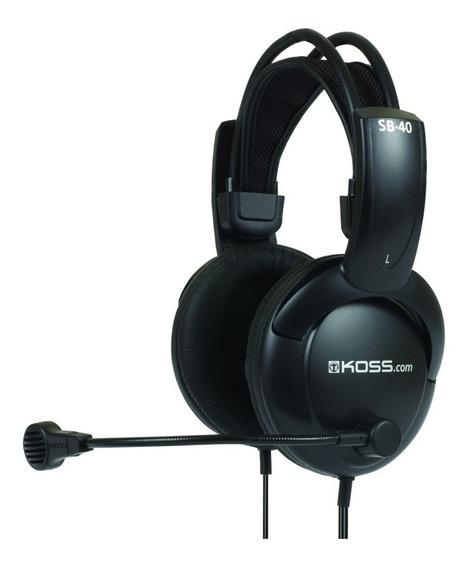 Fone De Ouvido Headset Com Microfone Sb 40 Koss