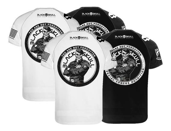4x Camisetas Dry Fit - Padrão + Bope - Black Skull Clothing