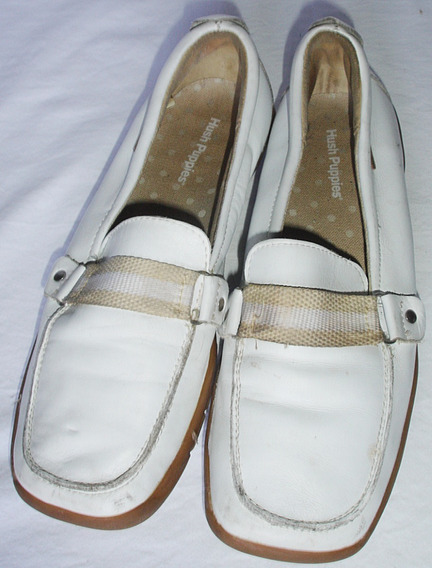 Mocasines Hush Puppies Nº 37 Blancos