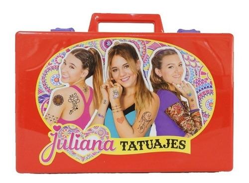 Valija Tatuajes Juliana Juguete Grande Original Micielo Azul