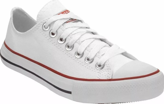 Tênis All Star Converse Lona E Couro Branco Feminino