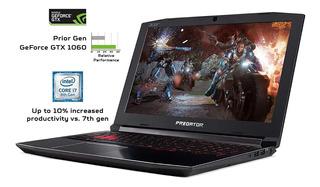 Notebook Acer Predator Helios 300 I7 Gtx1060 16gb Ram Ssd 25