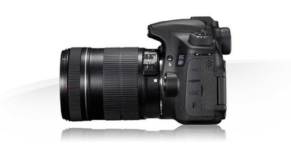 Câmera Canon 60d + Lente Canon 18-135mm + Flash + Triple