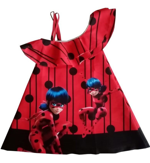 Vestido Prodigiosa Lady Bug Miraculous - Ig