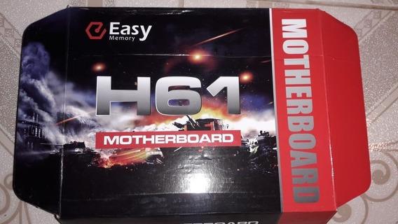 Placa Mae H61 1155 I3/i5/i7 Ddr3 Até 16gb -completa + Brinde