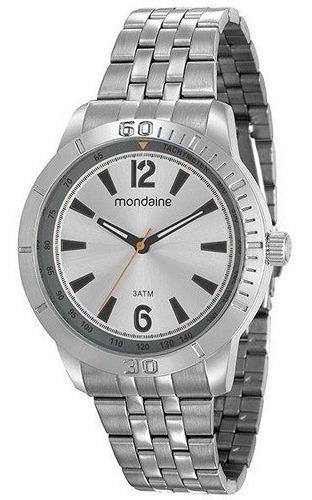 Relógio Mondaine Masculino Prata Analógico 99206g0mvne3
