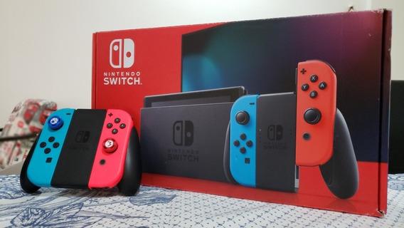 Nintendo Switch Última Versão! 1 Ano Apenas De Uso. +2 Jogos