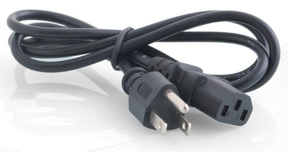 Cable Poder Ac Corriente Computadora Monitor 3 Pínes Pc 8694
