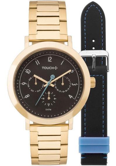 Relógio Touch Feminino Mãe Pra Toda Obra Azul - Tw6p29za/t4p