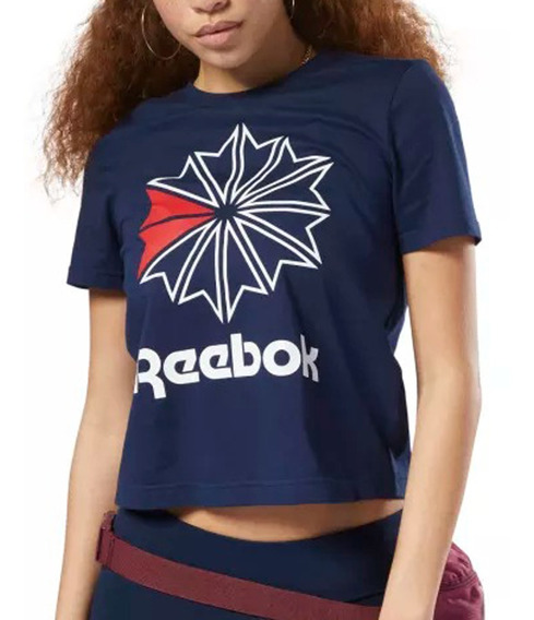 Remera Reebok Moda Classics Big Logo Mujer Mn