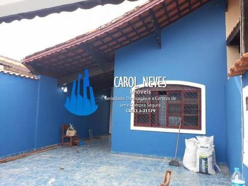 Imagem 1 de 14 de 4875- Casa 3 Dormitórios Bem Localizada Em Mongaguá