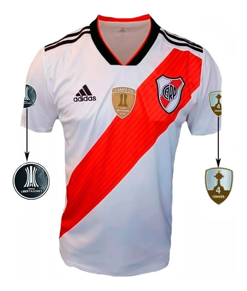 Camiseta River 2019 adidas Parche Campeón Y 4 Copas