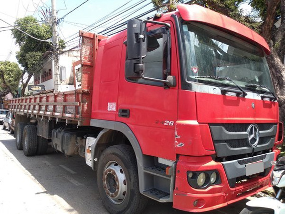 Mb Atego 2426 Truck 6x2 Ano 2014 Carroceria, Ar Condicionado