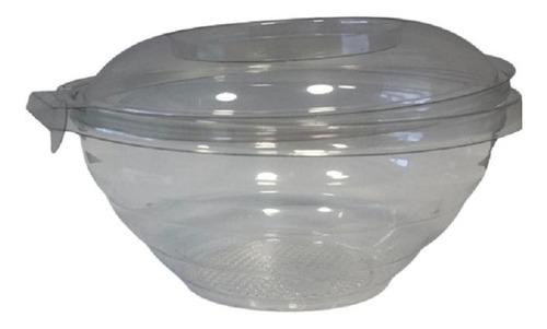 Ensaladera Descartable Cristal Con Tapa Precinto X100