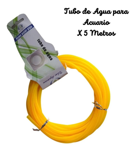 Tubo Para Acuario, De Agua, Manguera X 5 Metros. Entrega Ya!