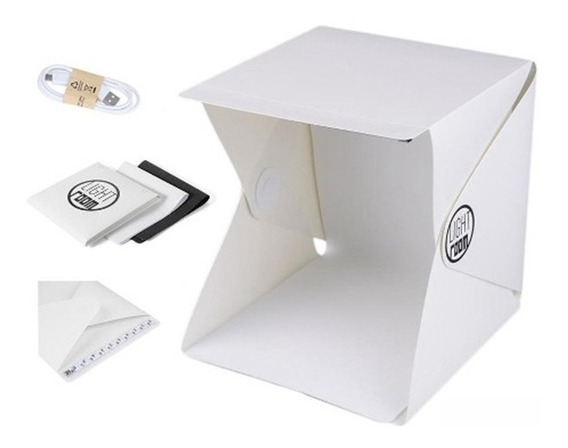 Mini Estúdio Cabine Fotográfico Led Ecommerce Pop Dobravel