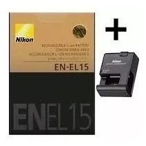 Bateria Nikon En-el15+carregador D500d600d610 D750 D800 D810