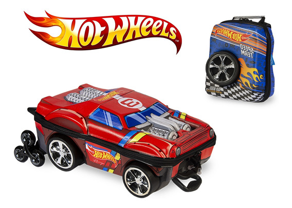 Mochilete Carros 3d Hot Wheels Night Shifter E Lancheira