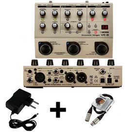 Pedal Boss Processador Vocal Ve 8 + Cabo Xlr Xlr + Fonte