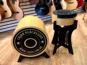 Cajon Percussion Mini Bateria Bateron Bumbo + Caixa
