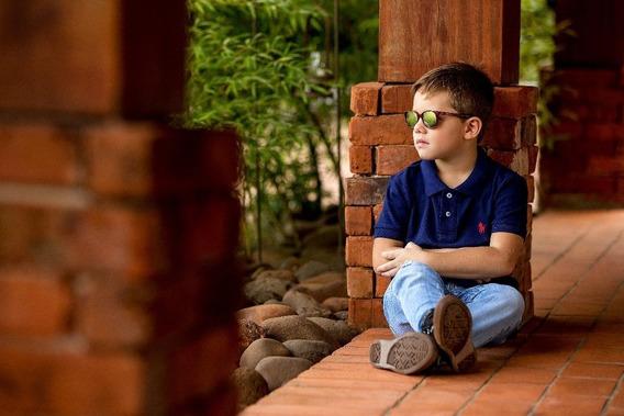 Camisa Infantil Gola Polo Masculina Algodão Original 6003