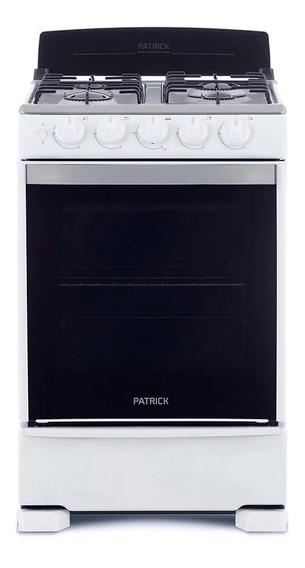 Cocina Patrick A Gas 55 Cm Blanca Cp6855b Beiro Hogar