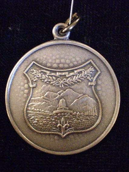Medalla 85 Aniversario De Pigue Bañada En Plata De 1969